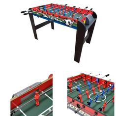 Black Football Table 2 Players Foosball Kids Play Soccer Indoor Fun Sports Toy #BlackFootballTables