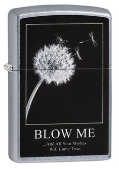 6076167c240 Zippo 29621, Wishes Will Come True-Blow Me, Street Chrome Finish Lighter |  eBay