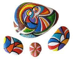 knitting-faziez: TAŞ BOYAMA...very colorful and fun!