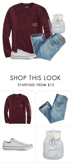 """""""School? Nah!"""" by jxst-like-galaxy ❤ liked on Polyvore featuring Vineyard Vines, American Eagle Outfitters and Converse"""