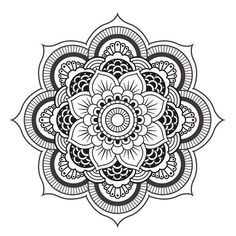 Mandala n°1 en coloriage à imprimer