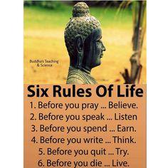 Six Rules Of  Life