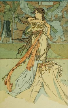 "Alphonse Mucha ~ Click through the large version for a full-screen view (with a black background in Firefox). Set your computer for full-screen. ~ Mik's Pics ""Alphonse Mucha l"" board Art Nouveau Mucha, Alphonse Mucha Art, Art Nouveau Poster, Illustration Art Nouveau, Jugendstil Design, Inspiration Art, New Art, Vintage Art, Art History"