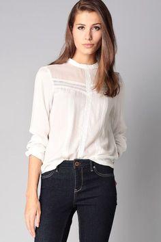 Blouse blanche dentelle Leona Vero Moda sur MonShowroom.com - gold blouse, wrap blouse, white blouse short sleeve *sponsored https://www.pinterest.com/blouses_blouse/ https://www.pinterest.com/explore/blouse/ https://www.pinterest.com/blouses_blouse/womens-blouses/ http://www.bodenusa.com/en-us/womens-shirts-blouses