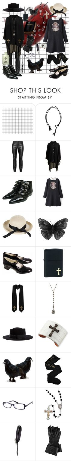 """you're addicted to the shame"" by sucrosia ❤ liked on Polyvore featuring Diesel Black Gold, Tokyo Rose, Zippo, Zoe, Gladys Tamez Millinery, KATIE Design, Trasparenze, Switchblade Stiletto, Maison Margiela and Twenty8Twelve"