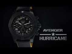 Breitling Avenger Hurricane Breitlight Case Black Dial Automatic Men's Strap Watch