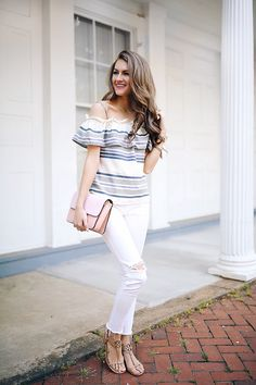 Splendid cotton striped top