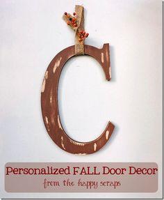 J door decor for fall