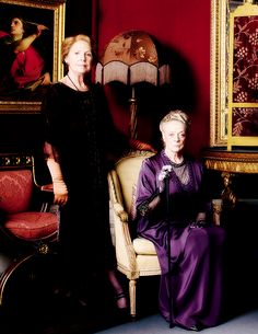 dontbesodroopy:  Penelope Wilton as Isobel Crawley, and Maggie Smith as Violet Crawley - Downton Abbey (s5)