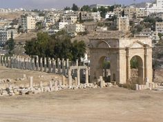 Tetrapylon Norte.  Jerash - Gerasa - Jordania.