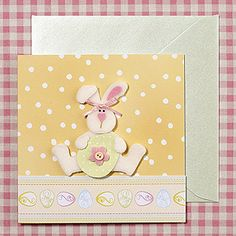 handmade Easter card: Bunny and Egg ...