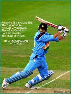 My passion for playing cricket started after I saw Rahul Dravid play. A true gentlemen and an idle for many! Cricket Games, Cricket Bat, Cricket Sport, Crickets Meme, Cricket Poster, Dhoni Quotes, Ms Dhoni Photos, Cricket Quotes, Cricket Wallpapers