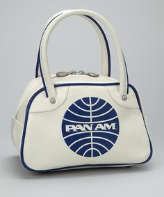 Pan Am White Explorer Shoulder Bag.