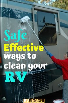 Cleaning RV exterior sounds simple, but did you know your RV is made of 7 different types of materials? Check out these RV cleaning hacks like RV awning, RV tires, and RV windows. Click, send or save to learn more! Camper Life, Diy Camper, Truck Camper, Camper Ideas, Rv Camping Tips, Travel Trailer Camping, Rv Tips, Camping List, Camping Products