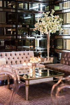 Ultra glam seating area in Aria Ballroom. | Photography: Ikonica | #fourseasons #Toronto #weddings #fsweddings #bridal #springwedding #spring