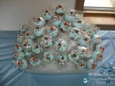 cupcake pops for babyshower for boy