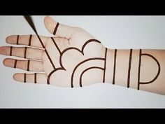 Simple Mehndi Design with Cotton Buds Trick - Easy Mehendi Designs for Beginners - New Easy Henna Henna Designs Back, Very Simple Mehndi Designs, All Mehndi Design, Mehandi Designs Easy, Stylish Mehndi Designs, Mehndi Designs For Girls, Mehndi Designs For Beginners, Mehndi Designs For Fingers, Latest Mehndi Designs