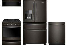 Refrigerator, range, dishwasher and microwave Lowes Appliances, Kitchen Appliances, Kitchen Cabinets, Black Kitchens, Cool Kitchens, Kitchen Sets, Buy Kitchen, Kitchen Appliance Packages, Appliance Sale