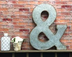 "12 Inch Galvanized Letters New Large Metal Letter ""a"" 12""  Wall Letters  Nursery Letter 'a Design Inspiration"