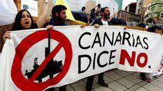 Manifestaciones contras las prospecciones en Canarias.