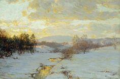 Walter Launt Palmer- Winter Sunset - Google Search