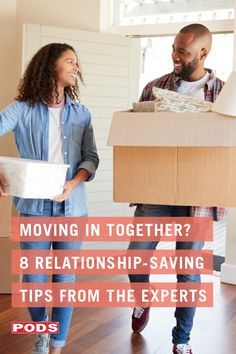 Moving in together is a big step that can feel completely right while still bringing its own set of challenges. Facing these as a team can help ensure the experience strengthens your relationship overall. We turned to 3 experts for advice, and these are the tips they shared. #ContainingTheChaos #PODS Moving In Together, Meant To Be Together, Household Expenses, I Feel You, Moving Tips, Would You Rather, Positive Attitude, Getting To Know, A Team
