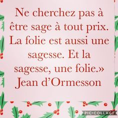 Do not look to be wise at all costs. Madness is also a wisdom. And wisdom, a madness. Citations Photo, Motivational Quotes, Inspirational Quotes, Good Sentences, Quote Citation, French Quotes, Think, Some Quotes, Learn French