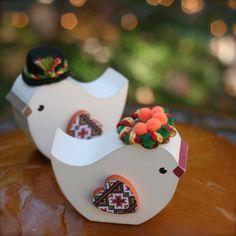 Rustic wedding, cake topper, Ukrainian Wedding Korovai Birds Traditional by primitiveseason