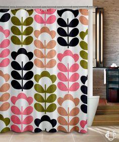 Cheap Orla Kiely Inspirate patern colour Shower Curtain