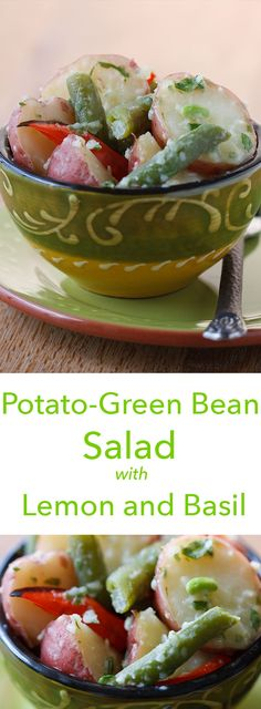 ... potatoes and green beans in flavor in this light, vegan potato salad