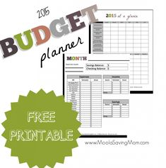 FREE Downloadable & Printable 2015 Budget Planner