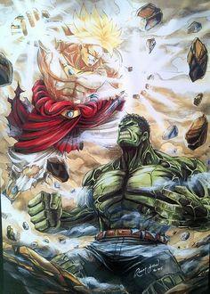 #Hulk #Fan #Art. (Super Saiyan vs Hulk) By: Robert Y. ÅWESOMENESS!!!™ ÅÅÅ