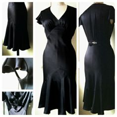 1930s style Little Black Dress with patterns (Not sure how easy... but oh well, love the dress.)