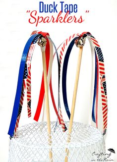 4th of July Duck Tape Crafts