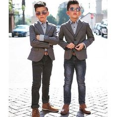 Kids with style ✌️ #luxmen - photo credit to respective owner.