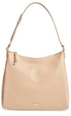 Shop Now - >  https://api.shopstyle.com/action/apiVisitRetailer?id=631880205&pid=uid6996-25233114-59 Kate Spade New York Lombard Street - Pauley Leather Hobo - Beige  ...