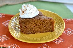 Pumpkin Pie Cake | 23 Thanksgiving Dishes You Can Make In A Crock Pot