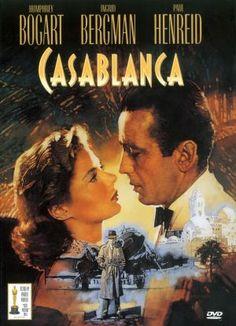 Casablanca starring Humphrey Bogart, Ingrid Bergman, & Paul Henreid.