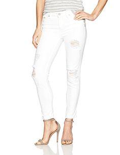 Calvin Klein Jeans Women's Ankle Skinny Jean Wash, White-$89.50