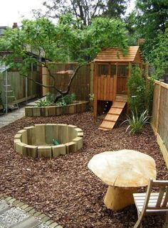 The Best Backyard Playground Ideas For Kids. Some great nature inspired play spaces here to get kids inspired to play outside more at home natural playground ideas Kids Backyard Playground, Backyard For Kids, Playground Ideas, Garden Ideas Kids, Modern Backyard, Small Garden Ideas With Bark, Small Garden Play Area Ideas, Backyard Play Areas, Natural Outdoor Playground