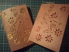 Dancing Hare papercut hand made notebook. by MushyPeaDesign, £5.00