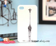 iphone 4 case - iphone 4s case - unique iphone case - giraffe. $14.99, via Etsy.