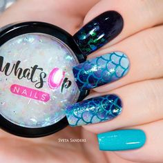 Little Mermaid Nail Art ❤️ Cute ombre nails designs are a dream of every fashionista. We have found some fresh designs for your next manicure. Check them out! ❤️ See more: [post_link] designsjournal Black Ombre Nails, Black Nails With Glitter, Gradient Nails, Stiletto Nails, Ombre Nail Designs, Nail Art Designs, Little Mermaid Nail Art, Mermaid Art, Diy Nails