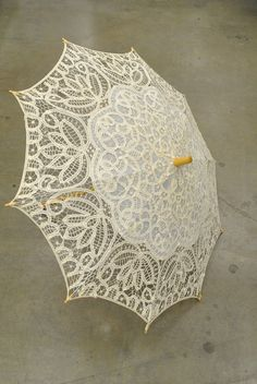 Vintage Crocheted Lace Parasol Umbrella – Romantic Lolita