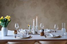 Kjøkkenet vårt – Villafunkis.no Decoration, Buffet, Table Settings, Candles, Home, Modern, Decor, Place Settings, Deko