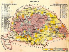 Magyar Hungary Map - Group all your extended family efforts into one dedicated website, we are experts in setting this up Hungary History, Budapest Travel Guide, Little Paris, Heart Of Europe, Austro Hungarian, Old Maps, Prehistory, Historical Maps, Budapest Hungary