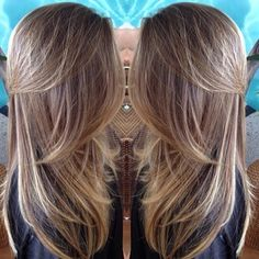 brown hair with fine blonde highlights
