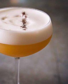 treaty-of-paris- 1½ oz. Courvoisier VSOP Cognac 1¼ oz. earl grey tea syrup ¾ oz. fresh lemon juice 1 fresh egg white (pasteurized if you like) Brut Champagne Earl grey tea