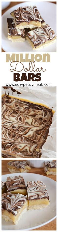 Copy cat TWIX bars. These are so EASY to make, and taste amazing with buttery shortbread, creamy caramel, and chocolate, and a little something extra with sea salt! Make them now! - Eazy Peazy Mealz