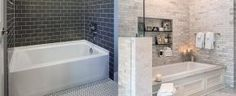Bathroom tub tile ideas bathtub and tile designs for bathtub walls bathroom tile designs ideas picturesTop 60 Best Bathtub Tile Ideas Wall Surround DesignsTop 60 [. Best Bathroom Flooring, Grey Bathroom Tiles, Small Bathroom, Bathroom Ideas, Tile Flooring, White Bathroom, Guys Bathroom, Relaxing Bathroom, Rustic Bathrooms